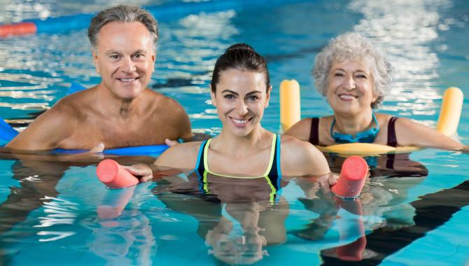 Adult water exercise class