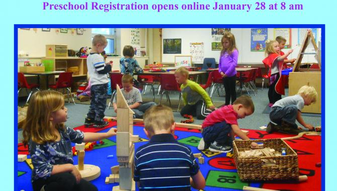 ECFE Preschool Registration cover
