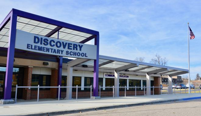 Discovery Elementary Front Entrance